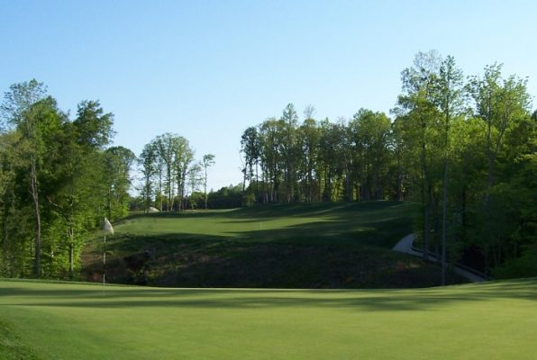 The 16th hole at Colonial Heritage Golf Cllub