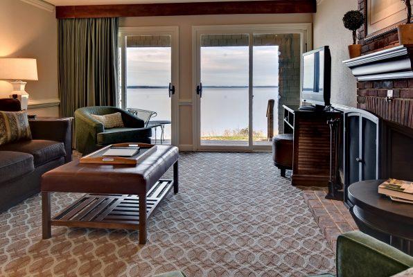 Living room at a Kingsmill Resort Cottage